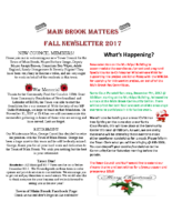 Main Brook Matters – Fall 2017 – 1st edition
