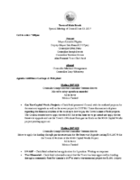 Special Meeting of Council June 13, 2017