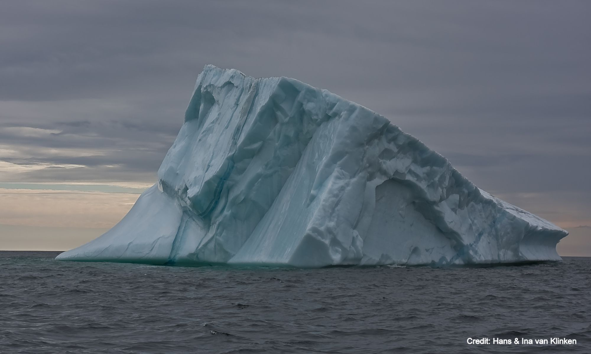 Iceberg in Hare Bay at Main Brook, NL