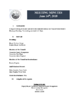 Regular Meeting of Council June 14, 2018