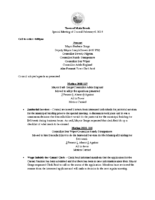 Special Meeting of Council February 6, 2018
