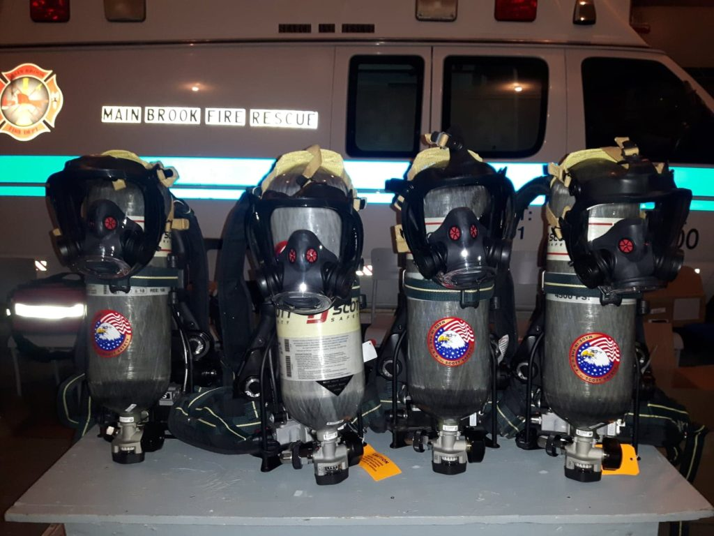 4 New Respirators, graciously funded by the IGA