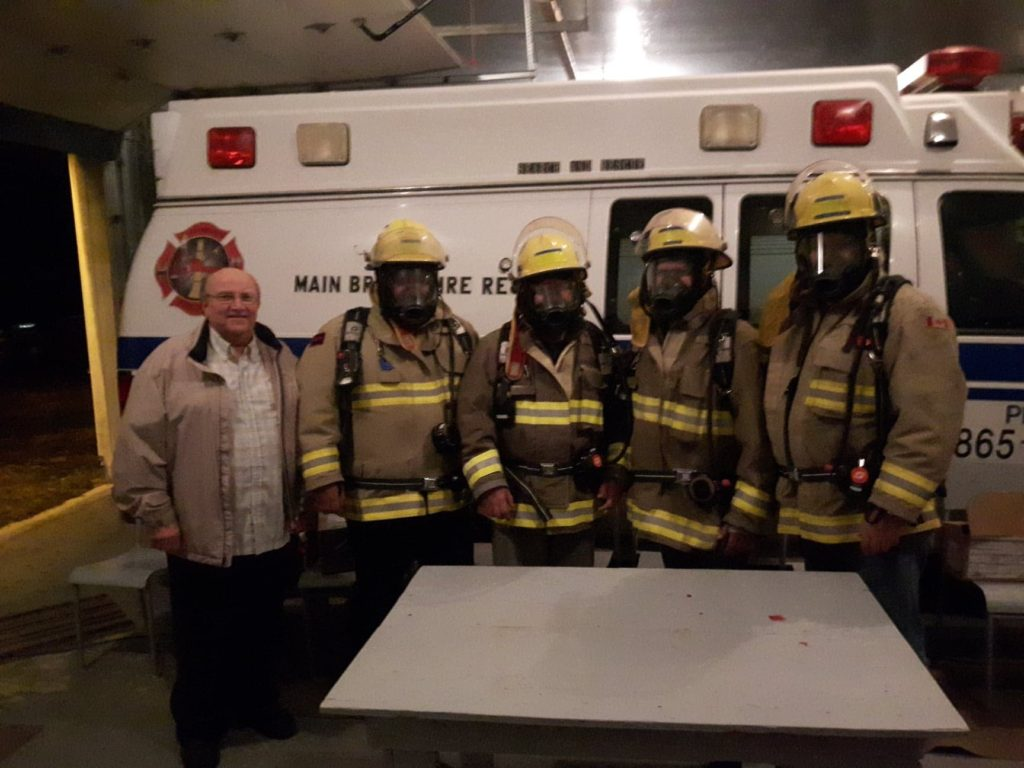 Main Brook Fire Department wearing the respirators, graciously funded by the IGA