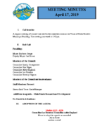 Regular Meeting of Council April 17, 2019