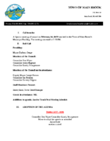 Special Meeting Minutes of Council Feb 26 2019