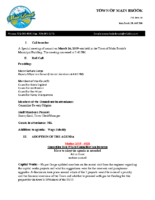 Special Meeting Minutes of Council March 26 2019