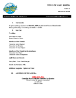 Special Meeting Minutes of Council March 6 2019