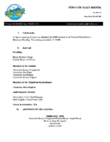 Special Meeting of Council January 24 2019 (1)