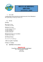 Regular Meeting of Council August 5^J 2019