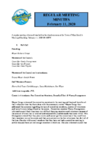 Regular Meeting of Council Feb 11 2020