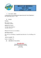 Regular Meeting of Council January 17 2020