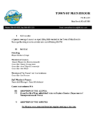 regular Meeting of Council April 22nd,2020